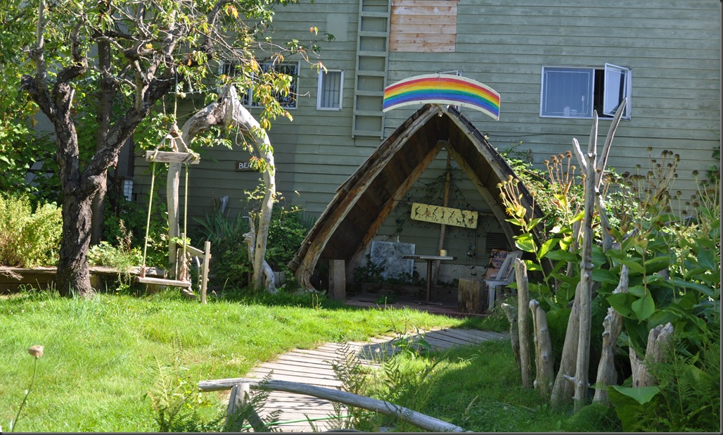 A beautiful rainbow powered garden - Powell River, BC - photo by Bruce Witzel