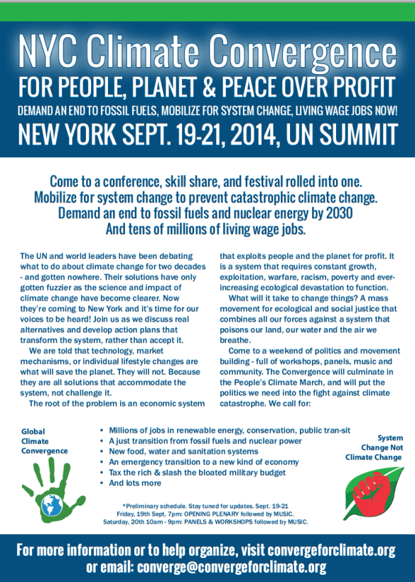 NYC Climate Convergence Flyer