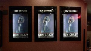 """""""Gun Crazy"""" theater posters"""