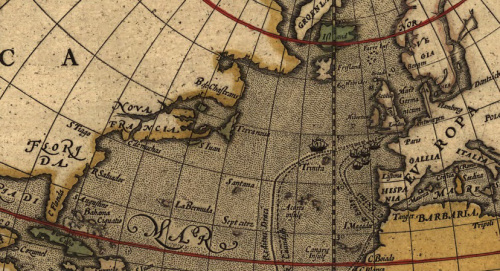 From a world map, 1595.